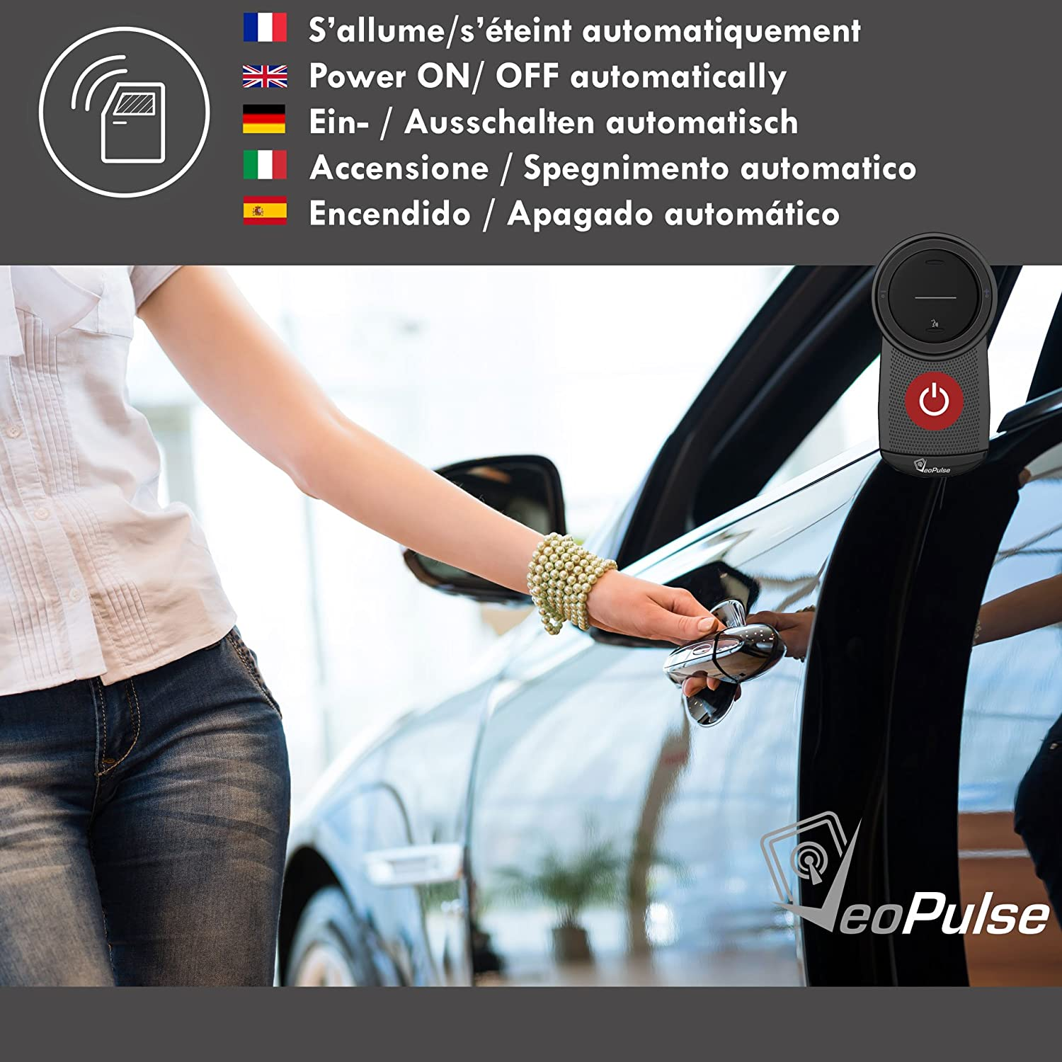 Hands free kit wireless in-car compatible with all phones/… VeoPulse B-PRO Bluetooth Car Speakerphone