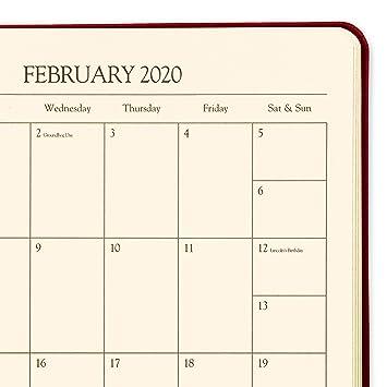 2020 Gallery Leather Large Weekly Planner Acadia Tan 9.75