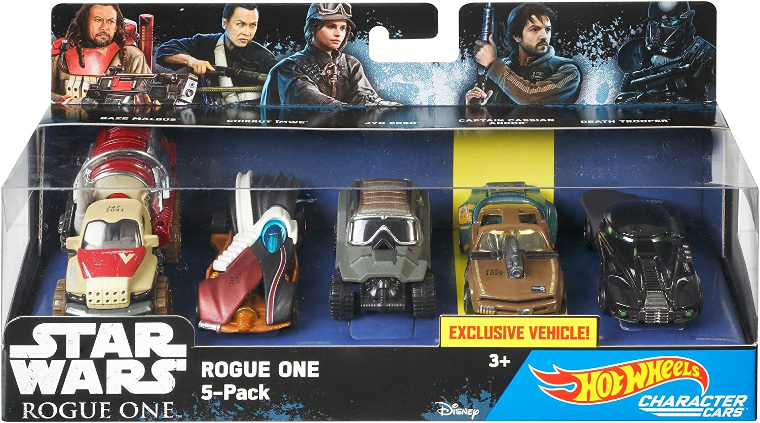 Hot Wheels - Pack de 5 Coches de Personajes de Star Wars (Mattel ...