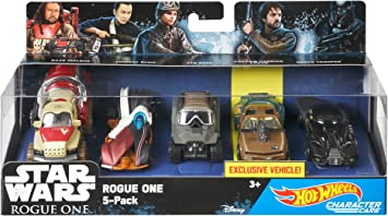 Hot Wheels - Pack de 5 Coches de Personajes de Star Wars (Mattel DXR05): Amazon.es: Juguetes y juegos