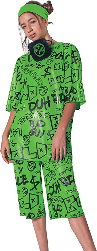 Amazon Com Billie Eilish Costume Official Green Oversize Top And Shorts For Kids Musical Artist Inspired Outfit Classic Child Size Small 4 6x Toys Games