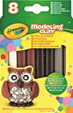 Crayola Modeling Clay (8 Pack), 0.6 oz, Natural