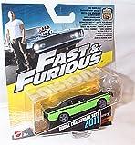 mattel fast and furious 7 green / black dodge challenger SRT8 2011 car 1.55 scale diecast model