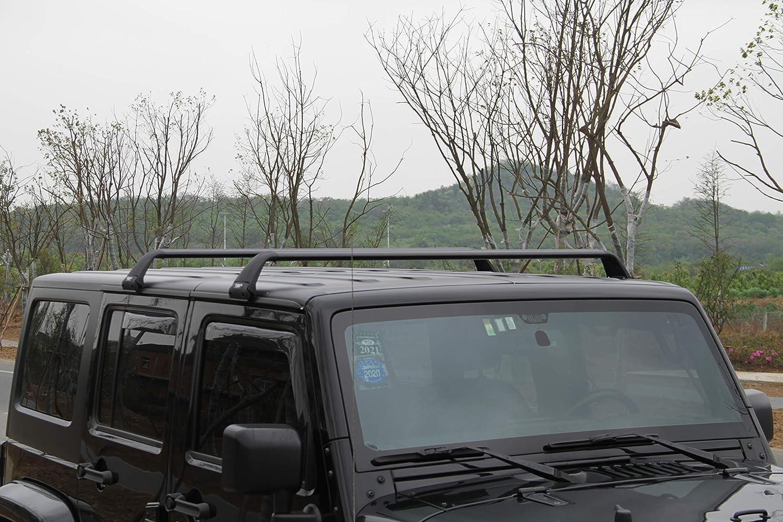 SnailAuto Black Luggage Rack Fit for 2007-2018 Jeep Wrangler JK /& 2018 2019 2020 Jeep Wrangler JL Unlimited 2/&4DOOR Cross Bars