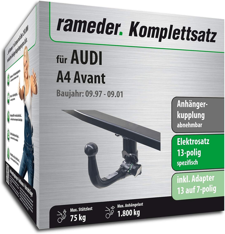 13pol Elektrik f/ür Audi A4 Avant Rameder Komplettsatz 112742-03485-2 Anh/ängerkupplung abnehmbar