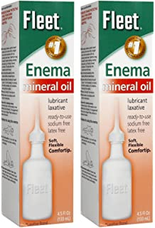 What is a mineral oil enema?