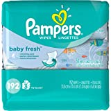 Pampers Baby Fresh Wipes 3x Travel Pack, 192 Count
