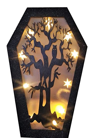 Amazon Com Halloween Decorations 14 Coffin Prop Led Light Up