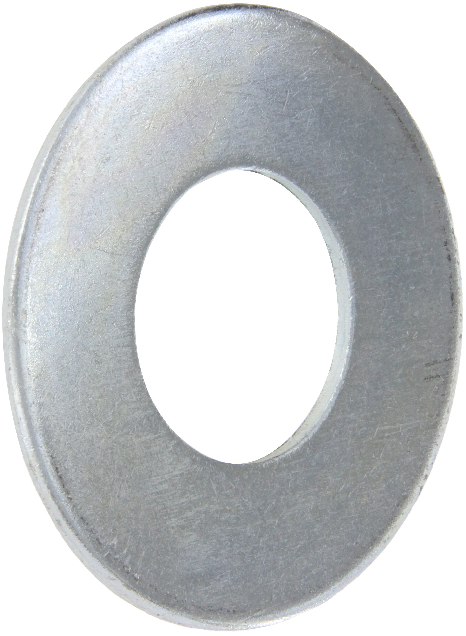 Steel Flat Washer, Zinc Plated Finish, ASME B18.22.1, 2'' Screw Size, 2-1/8'' ID, 4-1/2'' OD, 0.180'' Thick (Pack of 5)