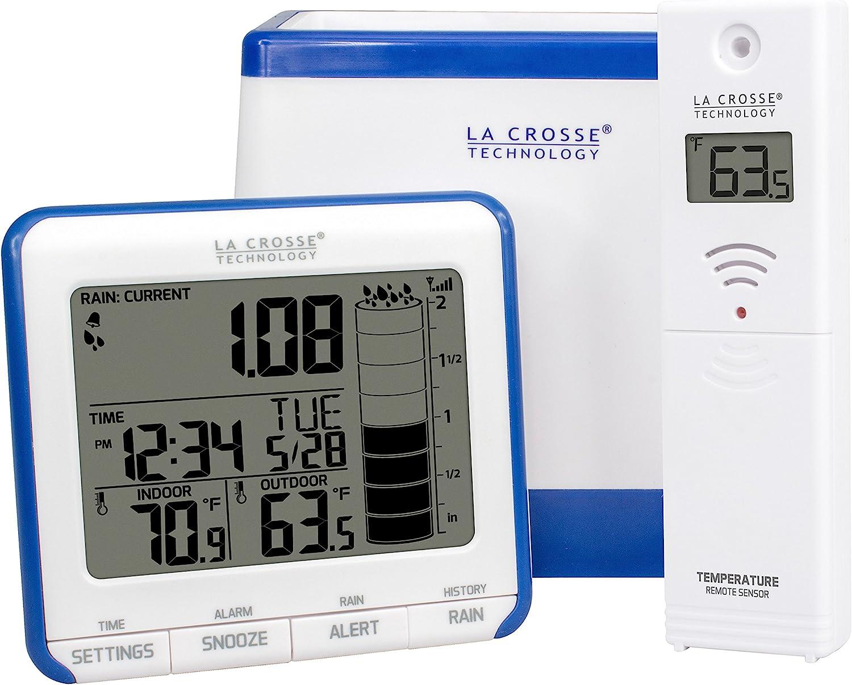 La Crosse 724-1710 Rain Gauge with Thermometer