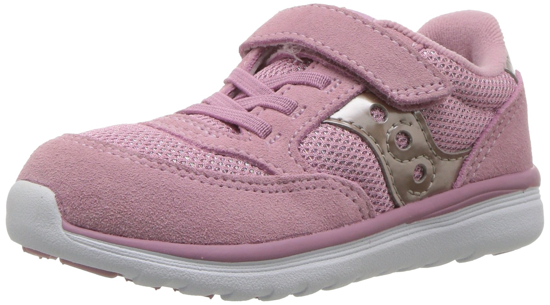 Saucony Baby Jazz Lite Sneaker, Blush Metallic, 7 W US Toddler