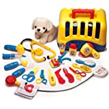 Doctor Toys & Medical Kit – 20 pc Set for Imaginative Play, Fun & Development – Includes Cute Dog, Carrier, Doctor Toy Set, Other Pet Grooming & Care Essentials – Appealing Colors