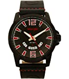 Wrangler Men's Watch, 45mm with Patterned Dial and Date Function, Polyurethane Band