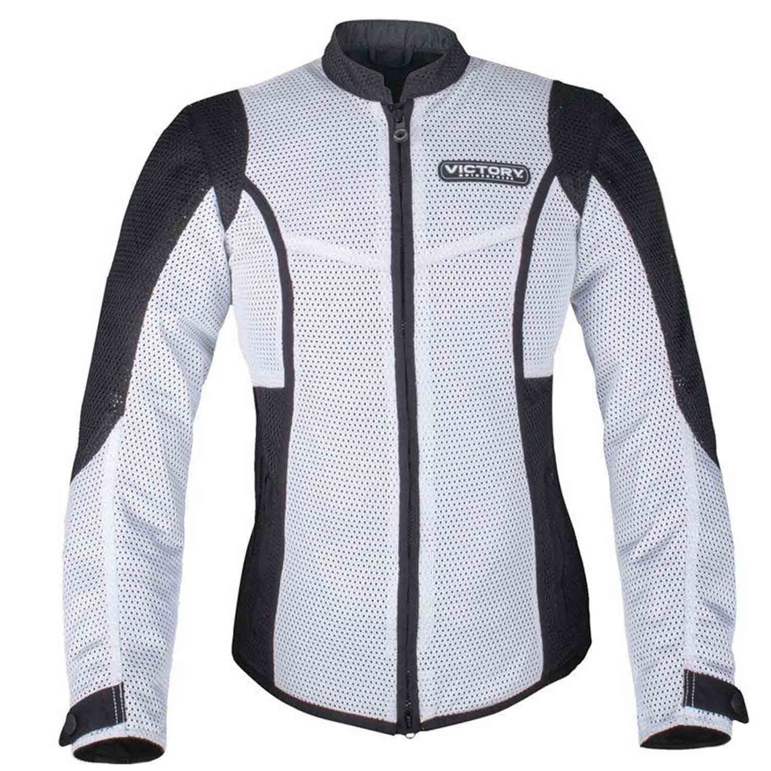 Victory Motorcycle New OEM Women's White Mesh Riding Jacket, Small, 286522102