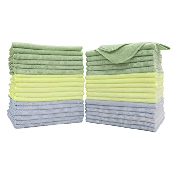 "Microfiber 15/""x16/"" Cleaning Cloths Detailing Polishing Towels Rags auto home"
