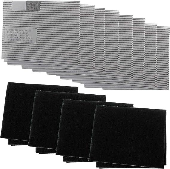 Spares2go - Kit de filtro de grasa para campana extractora de cocina Zanussi Best (8 grasas, 4 filtros de carbono): Amazon.es: Grandes electrodomésticos