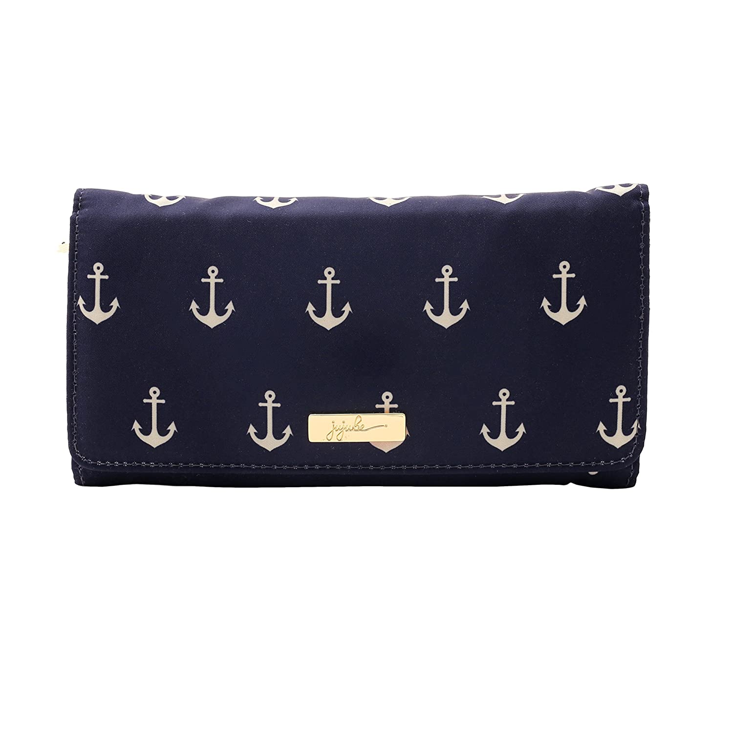 JuJuBe Be Rich Tri-Fold Wallet with Snap Enclosure, Nautical Collection - The Admiral