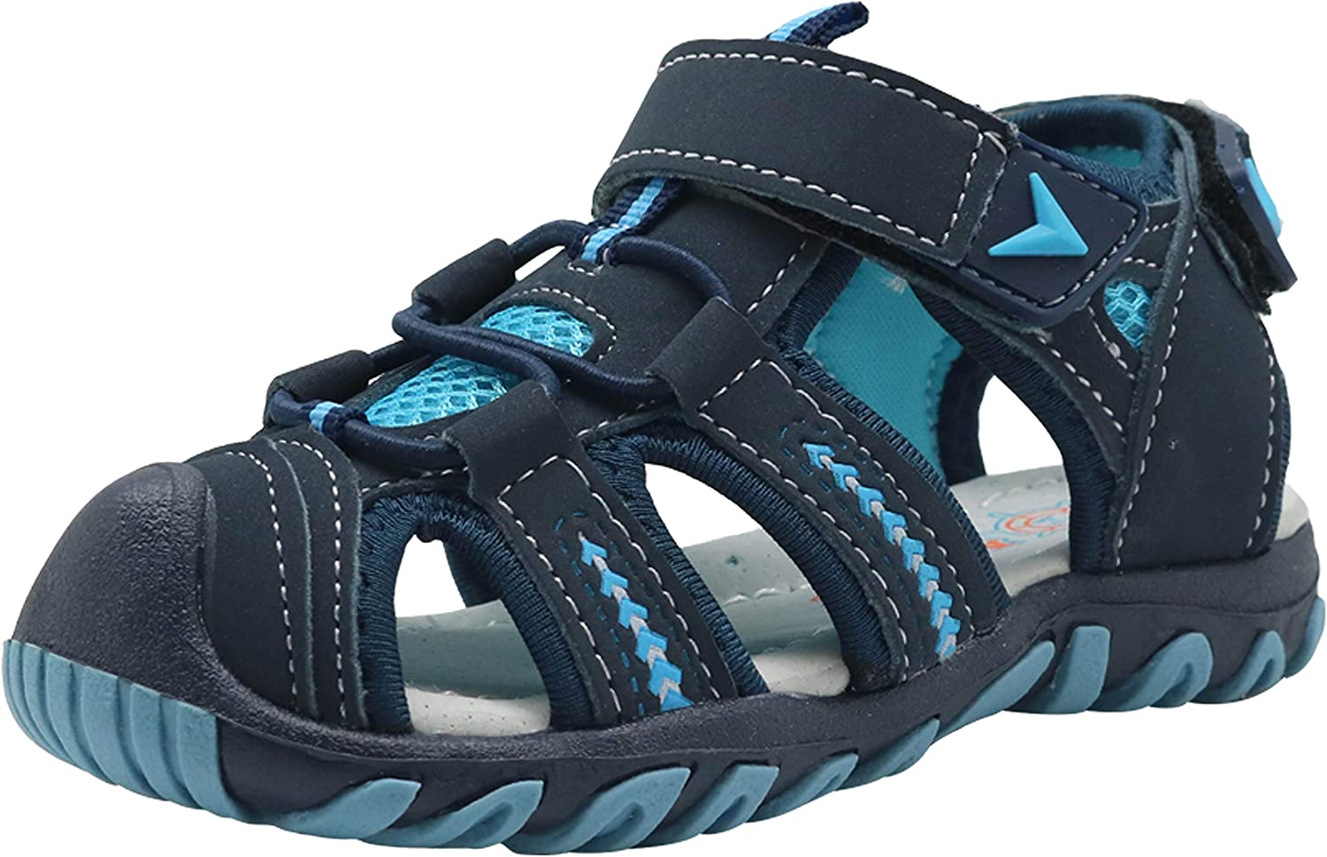 Apakowa Boys Outdoor Sport Beach Sandal with Arch Support Toddler//Little Kid