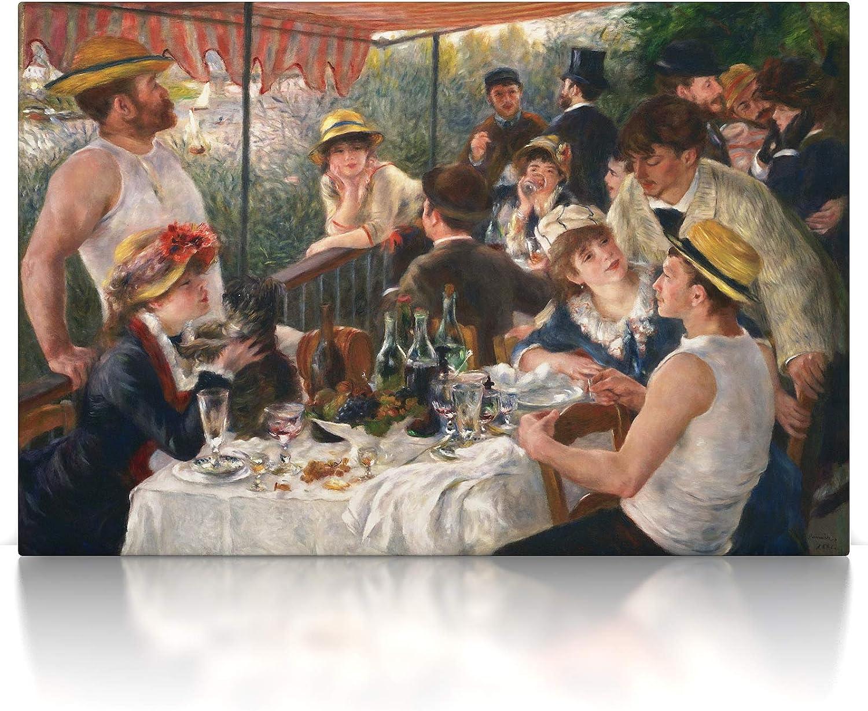 Leinwand Bild auf Keilrahmen 60 x 40 cm, Leinwand auf Keilrahmen Pierre-Auguste Renoir CanvasArts Fr/ühst/ück der Ruderer