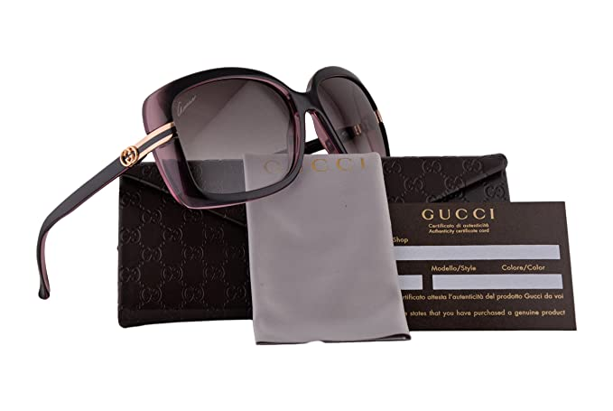 5c6500daa8b Gucci GG3188 S Sunglasses Brown Pink w Brown Gradient 0R4JS GG3188   Amazon.ca  Clothing   Accessories