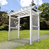 Weatherables Imperial Vinyl Arbor, 96 by 88-Inch
