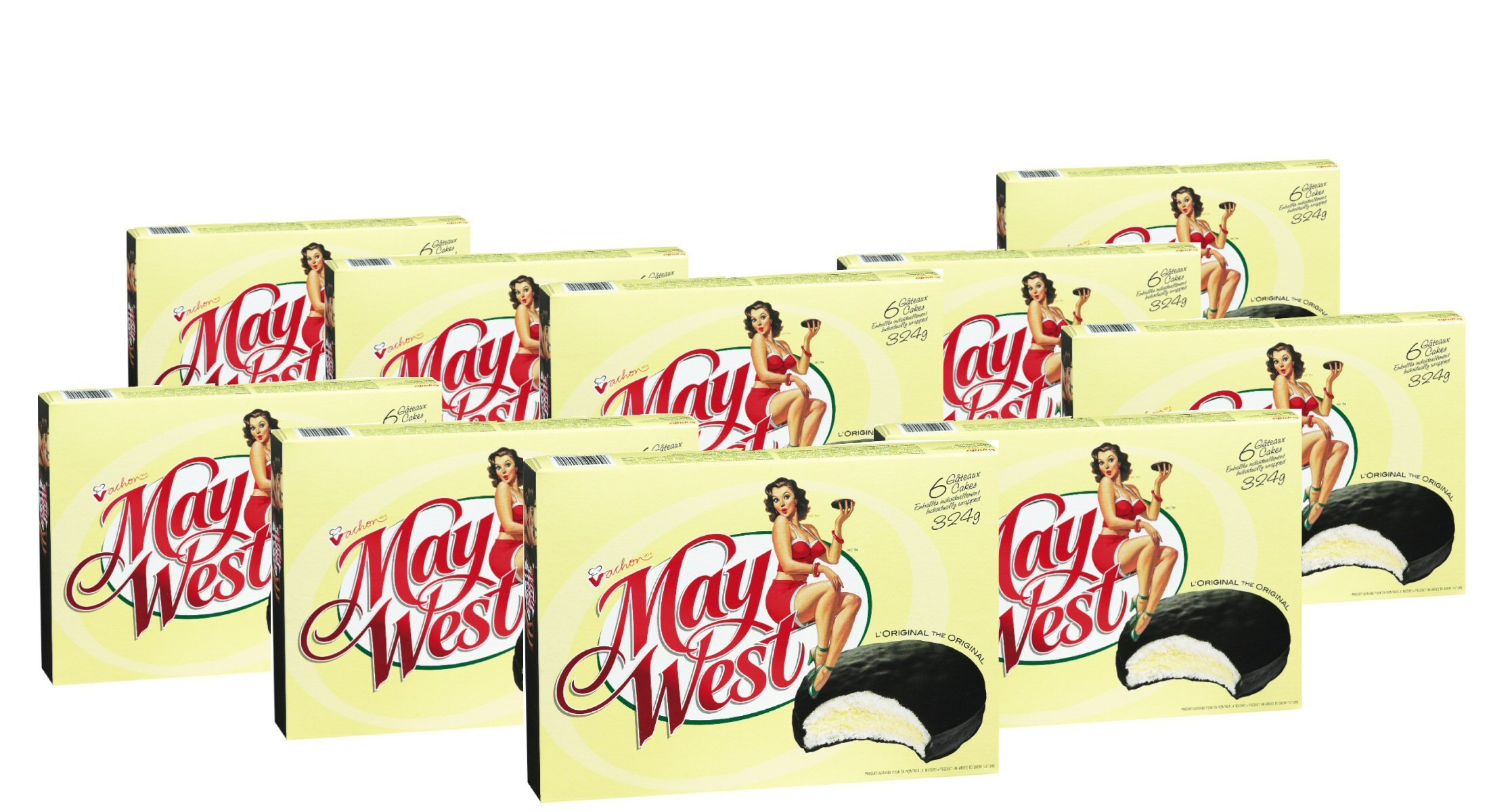 (10 Box) 6 Cakes Vachon the Original May West Cakes