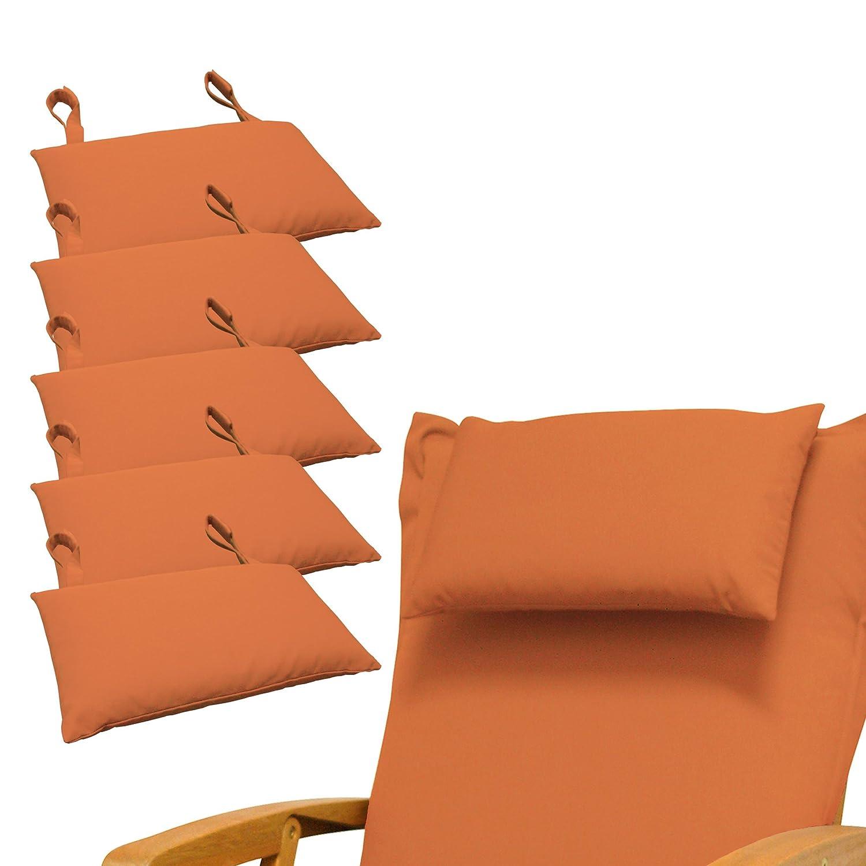 Indoba 6 x Premium-Orange Kopfkissen-Auflage
