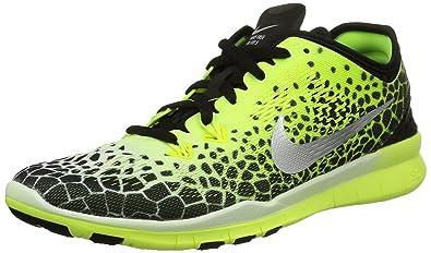 huge discount 8489b 37253 Nike Herren, WMNS nke Free 5.0 tr fit 5 PRT, Mehrfarbig (Black
