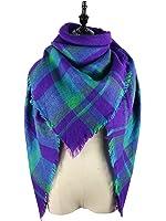 Zando Large Blanket Scarf Cozy Cape Fashion Winter Wrap Shawl Warm Fall Plaid Scarves Thick Scarfs Big Scarf for Women