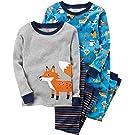 Carter's Boys' 12M-12 4 Piece Fox Pajamas Set