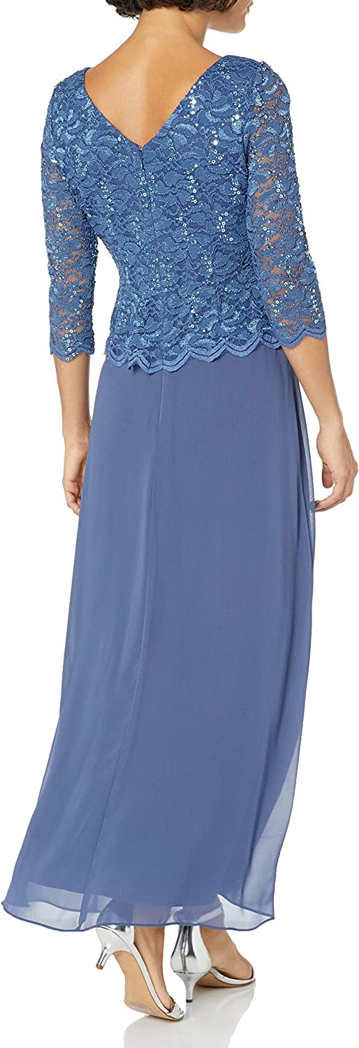 Alex Evenings Women's Special Occasion Dress Wedgewood