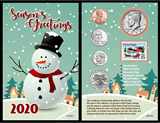 Photo Christmas Cards 2020 Under 25 Cent Each Amazon.com: American Coin Treasures Snowman Coin Year to Remember