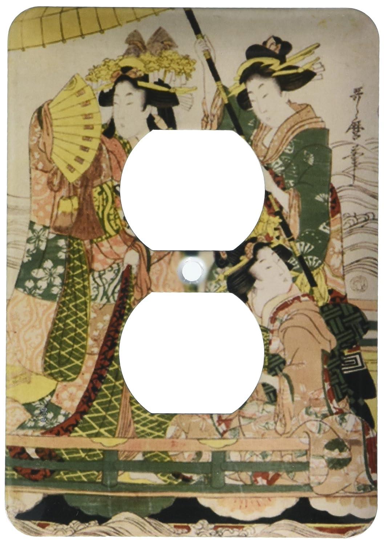 激安 3drose LSP 3drose 194735 B00NVZIUJE_ 6印刷の3つの従来Dressed Japanese Japanese Ladies onボート2プラグコンセントカバー B00NVZIUJE, くすりの福太郎:46980da3 --- svecha37.ru