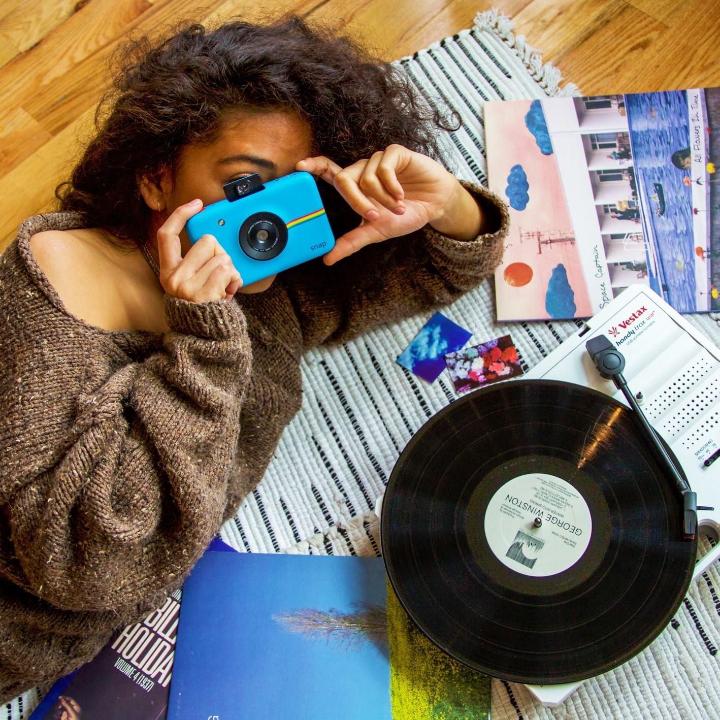 Blue Polaroid Snap Instant Digital Camera with Polaroid 2x3ʺ Premium ZINK Zero Photo Paper 50-Pack