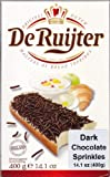 De Ruijter Chocolade Hagel slag Puur (Dark Chocolate Sprinkles) Schokoladen Streusel (Single)