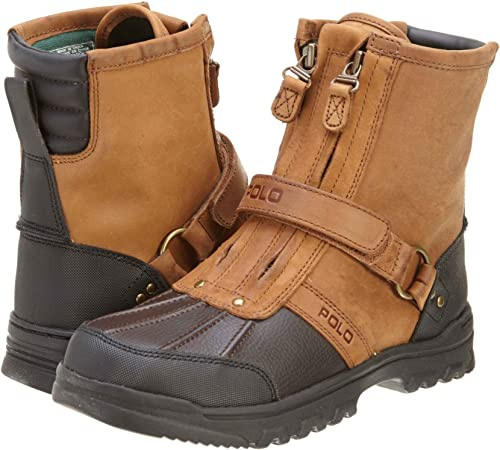 Polo Ralph Lauren Conquest HI Kids Botas Marrón/Chocolate 90237 ...