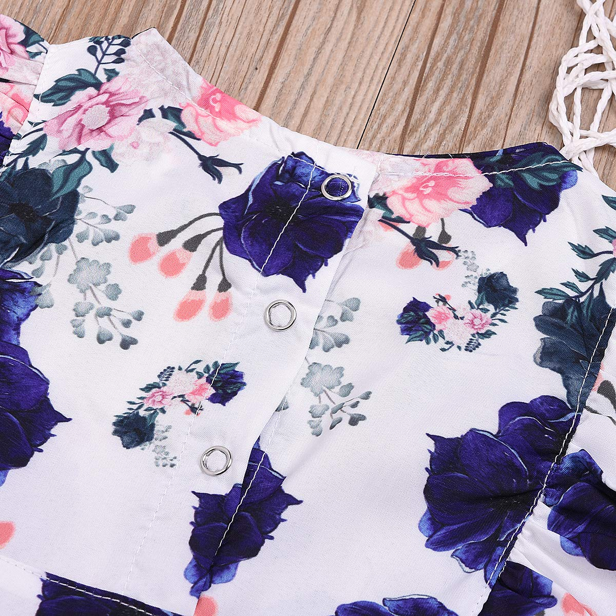 Little Baby Girls Big Sister and Little Sister Summer Outfits Flying Sleeve Floral Romper Dress Clothes