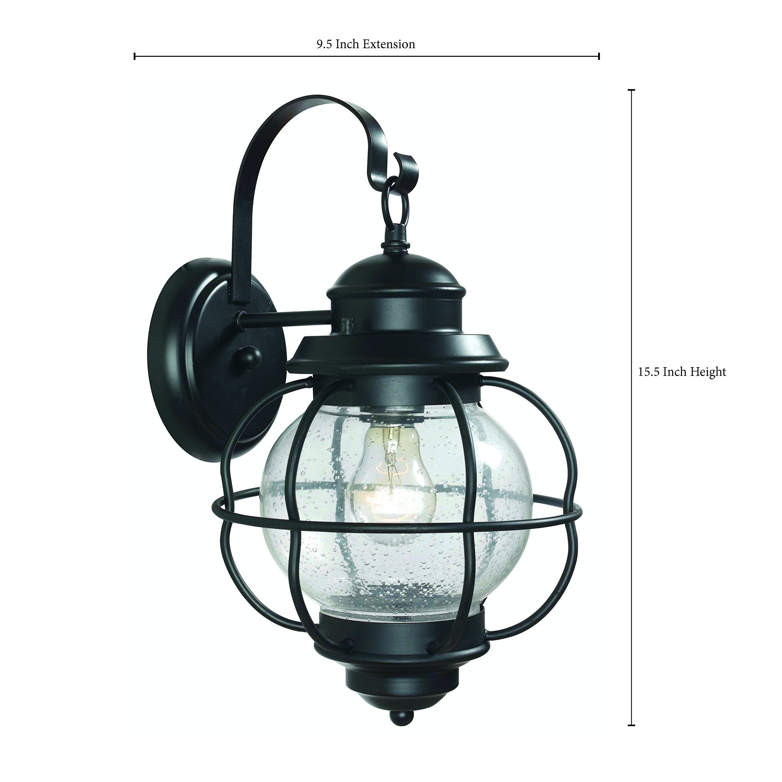 Kenroy Home 90962BL Hatteras Medium Lantern, Black