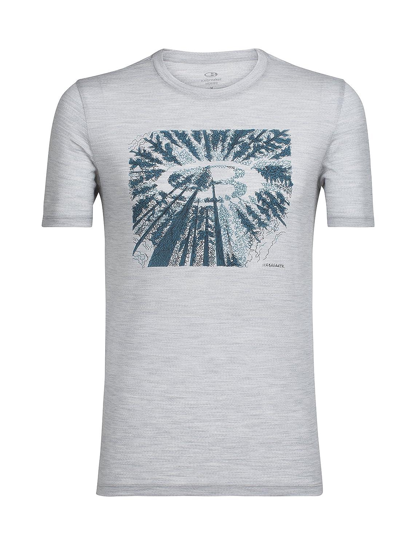 Icebreaker 150 Tech Lite Crewe Shirt Tree Top Logo Men - Merino T-Shirt