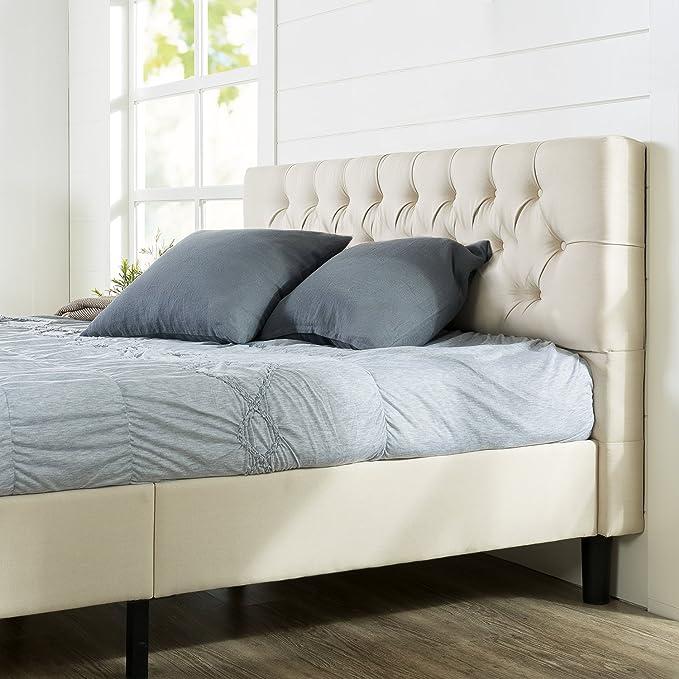 Zinus Misty Upholstered Modern Classic Tufted Platform Bed, King