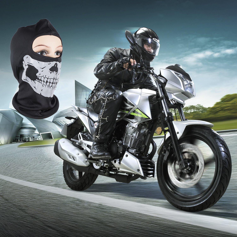Máscara de Calavera 3D Multifunción Bandana Braga Hombre Pasamontañas de Calavera Braga de Cuello Casco Moto, Máscaras Faciales Cráneo de Motocicleta sin ...