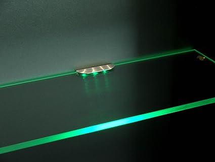 Set illuminazione led per ripiani in vetro illuminazione per