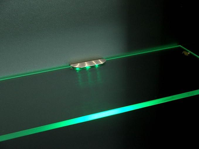 Led vetro fondo illuminazione led luce scaffale fondo