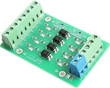 24V to 3.3V NOYITO 4-Channel Optocoupler Photoelectric Isolator Module Level Voltage Converter Module PLC Signal Converter Module PNP NPN to PNP