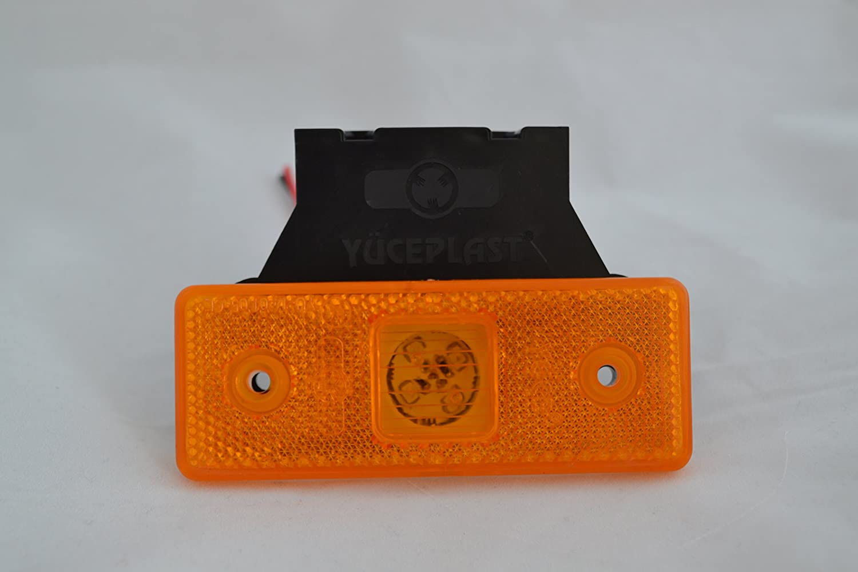 4 X 4 LED 24V FEUX DE GABARIT INDICATEURS ORANGE CAMION REMORQUE BUS SHASSIS