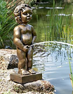 For pond statue of boy peeing