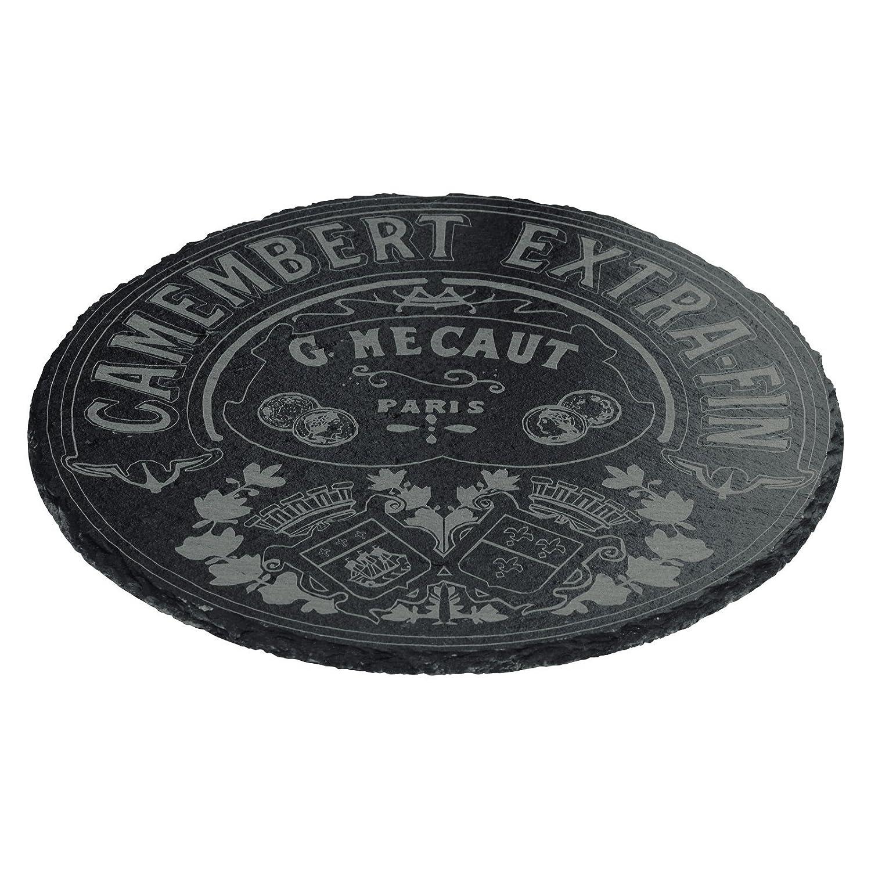 Bia Classique à camembert Plateau Rond Ardoise, Noir 180000G+302