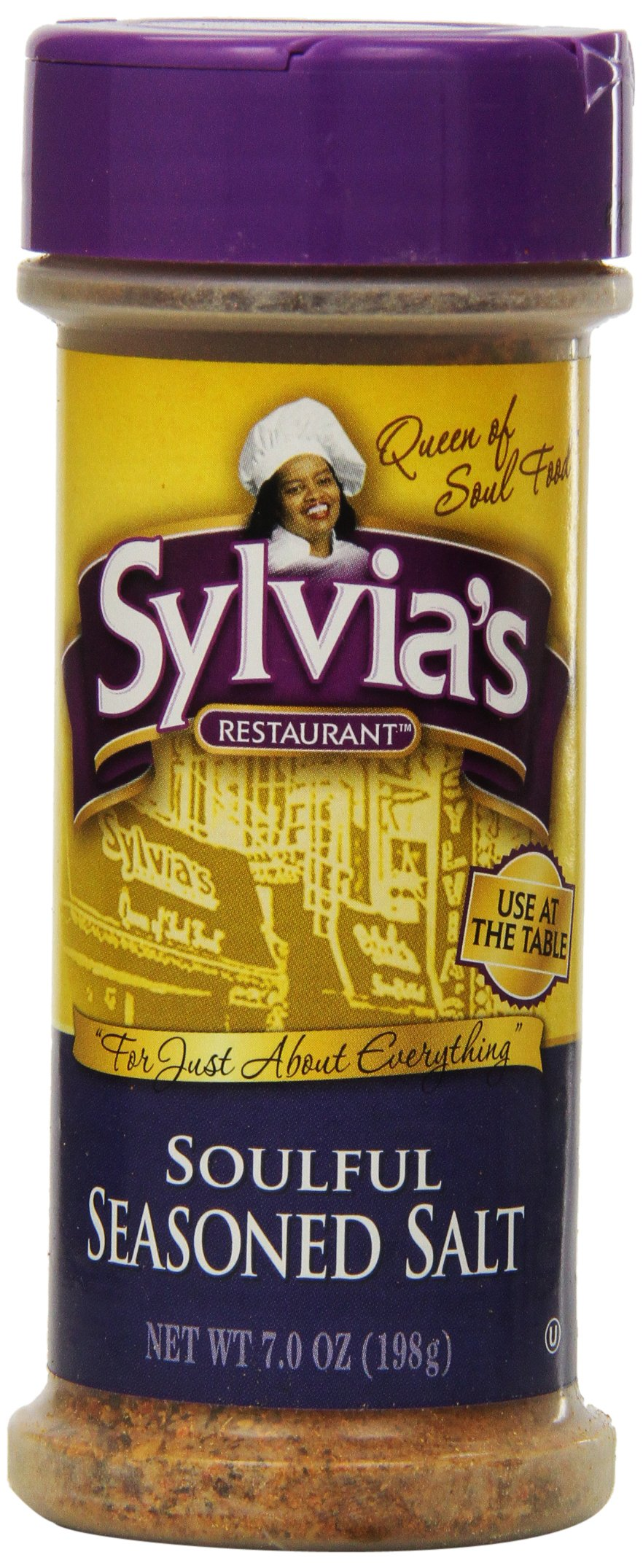 Sylvia's Soulful Seasoned Salt, 7-Ounce Containers (Pack of 12)