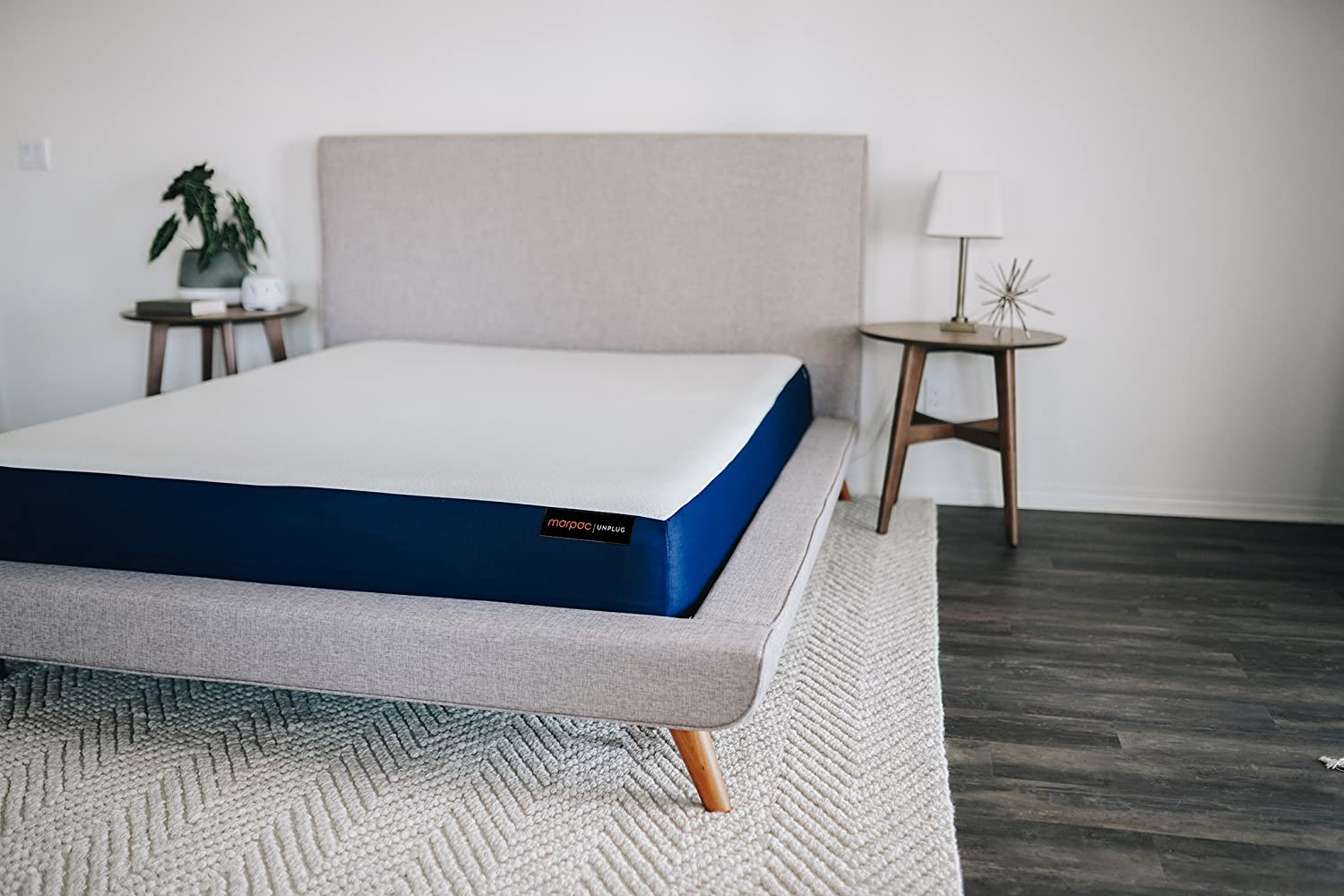 Amazon.com: Unplug Cal King Mattress 8 inch 2-Layer Gel Memory Foam System, Bed in a Box, Thermocool Knit-Stretch Cover, 101 Night Trial, 10 - Year Warranty ...