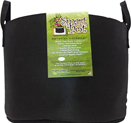 Black Smart Pots 15-Gallon Soft-Sided Container